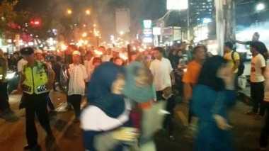 Sambut Tahun Baru Islam, Pawai Obor Ramaikan Margonda