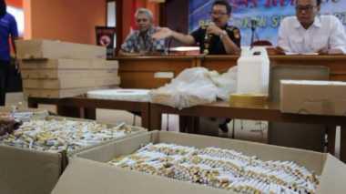 Bea Cukai Amankan 410 Ribu Batang Rokok Ilegal