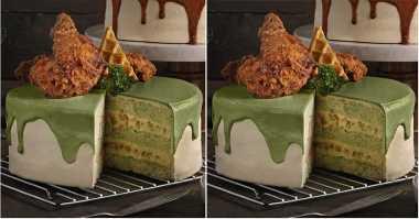Kue Ber-topping Ayam Goreng? Sah Saja