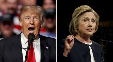 Survei Terbaru: Trump Unggul Tiga Poin atas Hillary