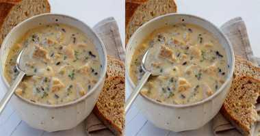 DIET MAYO DAY 7: Gurihnya Cream of Wild Rice Soup untuk Sarapan