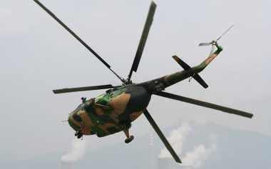 Knalpot Rusak, Helikopter Polri Mendarat Darurat