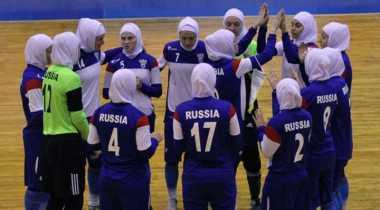 Ini Video Tim Futsal Wanita Rusia Berlaga di Iran Pakai Jilbab