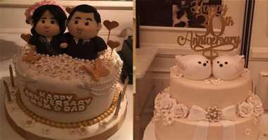 So Sweet, Lucunya Kue-Kue Ulang Tahun Pernikahan ke-30 Hary Tanoe & Liliana Tanoesoedibjo