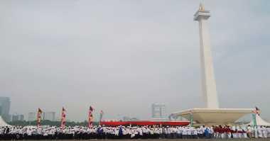 Ribuan Santri Padati Monas Peringati Hari Santri Nasional