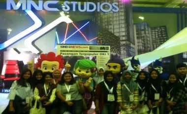 Booth MNC Sukses Sirep Pengunjung di Indonesia Broadcasting Expo