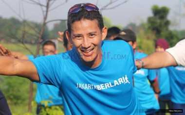 Sandiaga Uno Ikut Lari di Acara Jakarta Marathon