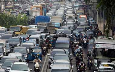 Titik Kepadatan Arus Lalu Lintas Jakarta Pagi Ini