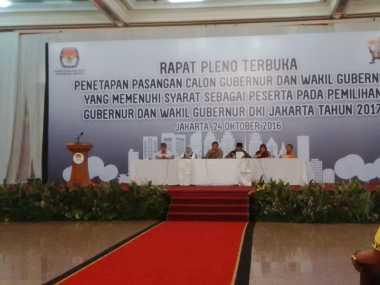 Rapat Pleno Penetapan Pasangan Cagub DKI Resmi Dimulai