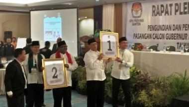 Pengambilan Nomor Urut Pilgub Banten, Wahidin-Andika Nomor 1