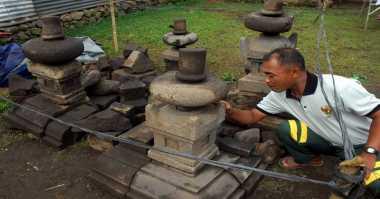 Benda Diduga Batuan Candi Ditemukan Petani di Temanggung
