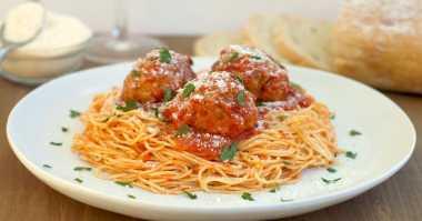 Rekomendasi Spaghetti Meatballs untuk Sarapan Besok Pagi