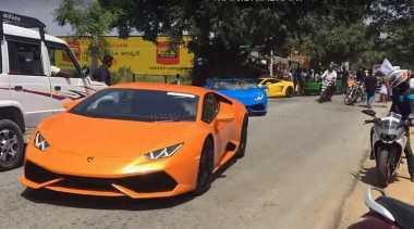 """Gara-Gara """"Polisi Tidur"""", Rombongan Touring Lamborghini Bikin Macet"""