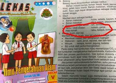 Penerbit LKS SD Berkonten Narkoba Klaim Dinas Pendidikan Tahu Pengadaan Buku