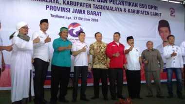 Saat Kandidat Kepala Daerah Tasikmalaya Hadiri Pelantikan DPRt Perindo