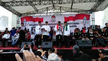 Ribuan Massa Ikuti Kampanye Damai Pilgub Banten