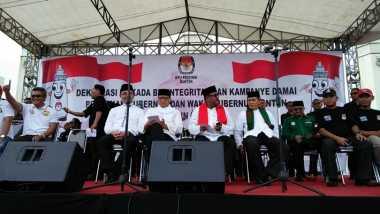 Dua Paslon Pilgub Banten Deklarasikan Kampanye Damai
