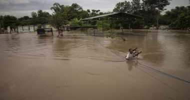 BPBD Bojonegoro Tetap Waspadai Luapan Sungai Bengawan Solo