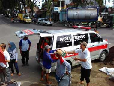 Rescue Perindo Jatim Salurkan Bantuan untuk Korban Banjir Bojonegoro