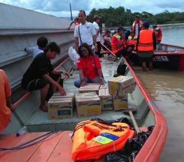 Rescue Perindo Jatim Lakukan Pemetaan di Lokasi Banjir Bojonegoro