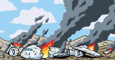 Jatuh, Pesawat Polri Dikabarkan Hancur