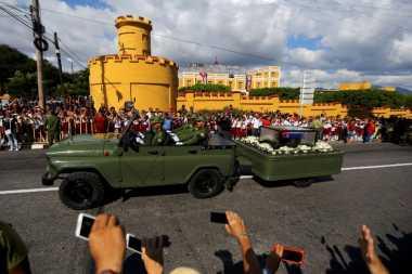 Abu Jenazah Fidel Castro Tiba di Kota Bersejarah