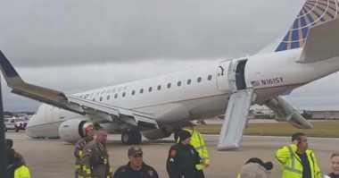 Roda Depan Pesawat Rusak, Penumpang Dievakuasi