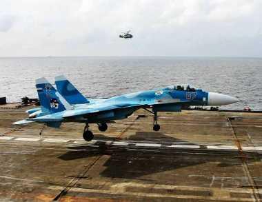 Jet Tempur Rusia Jatuh saat Mendarat di Kapal Induk
