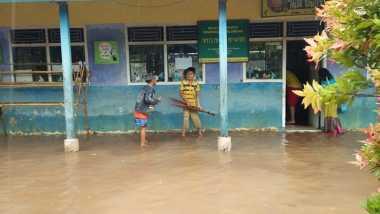 Serang Diterjang Banjir, Sekolah Madrasah Sudah Sepekan Diliburkan