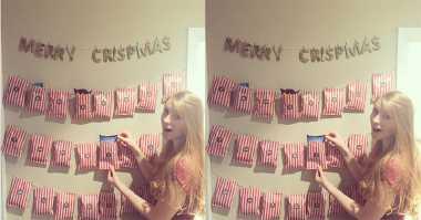 TOP FOOD: So Sweet, Wanita Dihadiahi Kejutan Kalender Snack oleh Kekasihnya