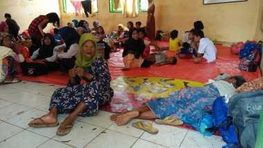 Korban Banjir di Serang Tak Betah Tinggal di Pengungsian