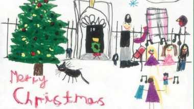 PM Inggris Pilih Gambar Anak-Anak untuk Kartu Ucapan Natalnya