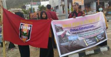 Pelajar & Mahasiswa di Jayapura Galang Dana untuk Korban Gempa