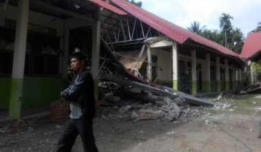 Sekolah Rusak Akibat Gempa Aceh, Aktivitas Belajar Diliburkan Sementara