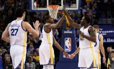 Curry, Durant dan Thompson Bawa Warriors Taklukkan Detroit Pistons