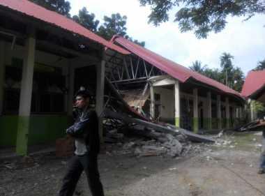Rusak Akibat Gempa, Tiga Sekolah di Sibolangit Diliburkan