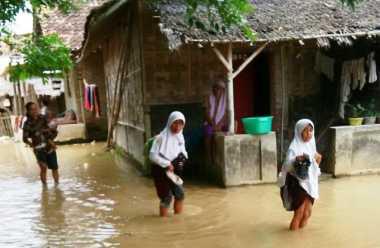 Sungai Ciujung Meluap, Satu Desa di Serang Terendam Banjir