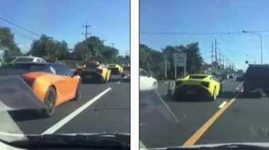 Konvoi 10 Lamborghini yang Dikawal Polisi Jadi Cibiran