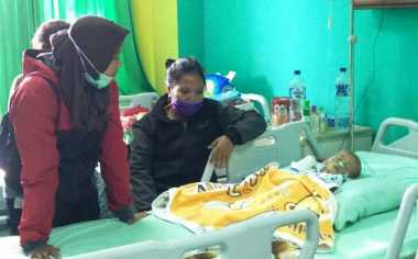 Pemuda Perindo Bontang Beri Bantuan kepada Korban Gizi Buruk