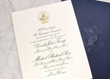 Ini Penampakan Undangan Inaugurasi Donald Trump & Mike Pence