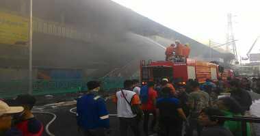 Cegah Hal Tak Diinginkan, Polisi Siaga di Lokasi Kebakaran Pasar Senen