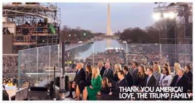 """Jelang Inagurasi Presiden AS, Donald Trump Jr: """"Terima Kasih, Amerika!"""""""