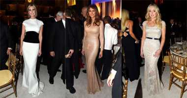 Cantiknya Melania hingga Tiffany Trump saat Hadiri Makan Malam Pre-Inaugurasi