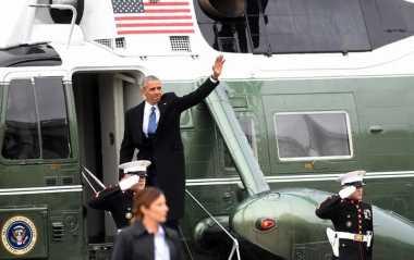 Pascainagurasi Trump, Keluarga Obama Naik Helikopter untuk Berlibur