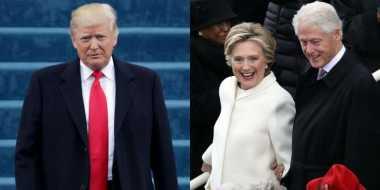 Pascainagurasi, Trump Bersulang untuk Bill dan Hillary Clinton