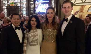 Pesta Usai Pelantikan Presiden AS, Hary Tanoe Bertemu Eric Trump