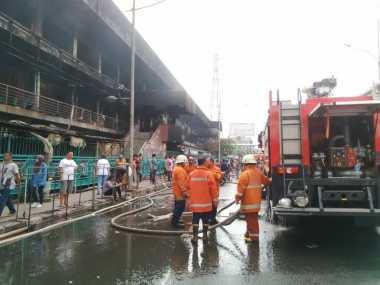 Hari Ketiga Kebakaran, 3 Titik Api Masih Intai Pasar Senen