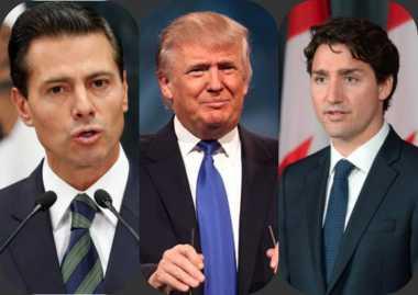 Trump Berdialog dengan Presiden Meksiko dan PM Kanada