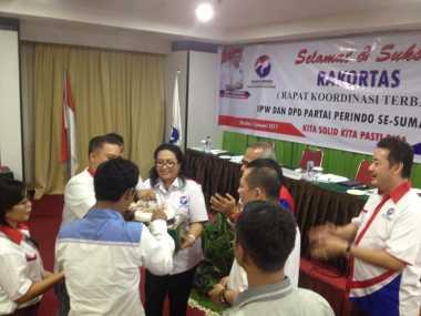 Ketua DPD Partai Perindo Humbahas Dapat Kejutan di Rakortas Partai Perindo Sumut