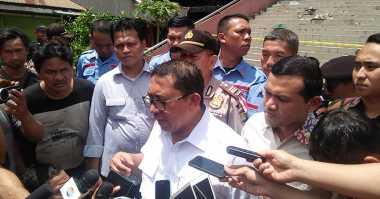 Fadli Zon Blusukan ke Lokasi Kebakaran Pasar Senen
